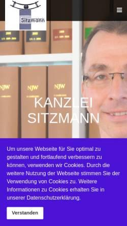 Vorschau der mobilen Webseite www.anwaltskanzlei-sitzmann.de, Anwaltskanzlei Sitzmann