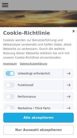 Vorschau der mobilen Webseite www.foehr-archidee.de, Archidee Immobilien GmbH