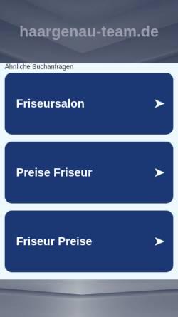 Vorschau der mobilen Webseite www.haargenau-team.de, Friseursalon Haar-Genau