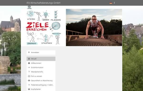 Vorschau von www.ifa-wetzlar.de, ifa Finanz- und Versicherungsmakler GmbH