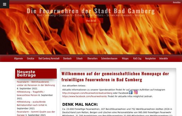 Vorschau von www.feuerwehren-badcamberg.de, Feuerwehren der Stadt Bad Camberg
