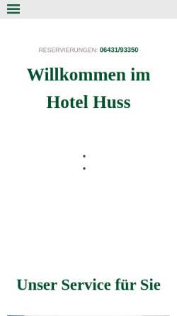 Vorschau der mobilen Webseite www.hotel-huss.de, Hotel Huss