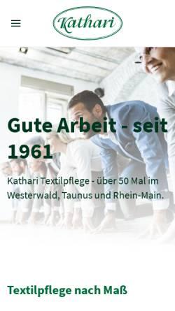 Vorschau der mobilen Webseite www.kathari.com, Hans Georg Kathari
