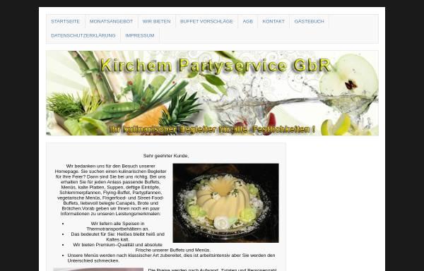 Vorschau von kirchem.de, Partyservice Beate Kirchem
