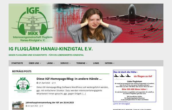 Vorschau von www.igfluglaerm.de, Interessengemeinschaft gegen Fluglärm im Kinzigtal e.V.