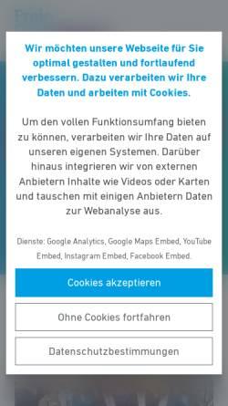 Vorschau der mobilen Webseite www.fdp-mkk.de, FDP Kreisverband Main-Kinzig