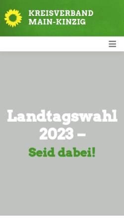 Vorschau der mobilen Webseite gruene-main-kinzig.de, Bündnis 90 / Die Grünen
