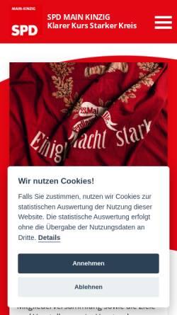 Vorschau der mobilen Webseite www.spd-mkk.de, SPD Unterbezirk Main-Kinzig