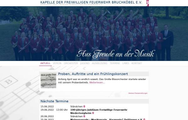 Vorschau von www.kapelle-bruchkoebel.de, Kapelle der Freiwilligen Feuerwehr Bruchköbel e.V.
