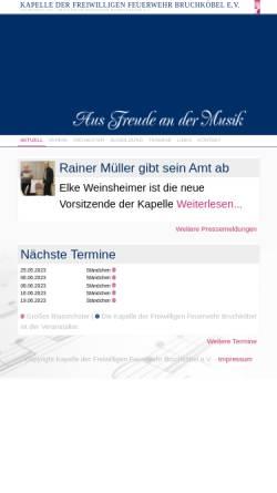 Vorschau der mobilen Webseite www.kapelle-bruchkoebel.de, Kapelle der Freiwilligen Feuerwehr Bruchköbel e.V.