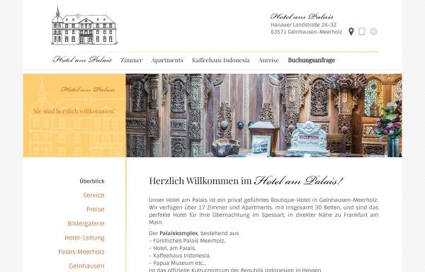 Vorschau von www.hotel-am-palais.de, Hotel am Palais