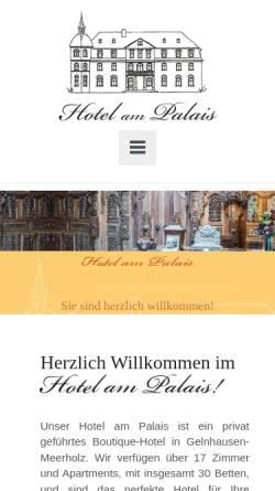 Vorschau der mobilen Webseite www.hotel-am-palais.de, Hotel am Palais