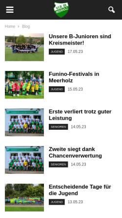 Vorschau der mobilen Webseite www.vfr09meerholz.de, V.f.R. 1909 Meerholz e.V.