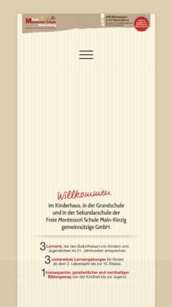 Vorschau der mobilen Webseite www.montessori-mkk.de, Freie Montessori Schule Main-Kinzig-Kreis