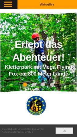 Vorschau der mobilen Webseite europa-kletterwald.de, Europa-Kletterwald, Norman Graudenz