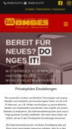 Vorschau der mobilen Webseite www.donges-dautphetal.de, W. Donges e.K. Inh. Uwe Donges