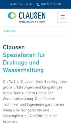 Vorschau der mobilen Webseite www.walter-clausen.de, Walter Clausen GmbH