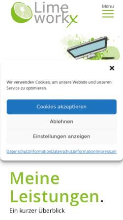 Vorschau der mobilen Webseite www.lime-workx.com, Lime workx, Martin Kramer