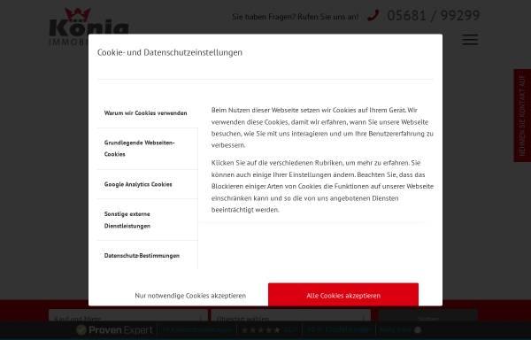 Vorschau von www.koenig-immobilien.de, Koenig Immobilien GmbH
