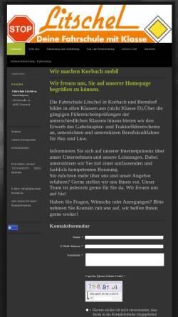 Vorschau der mobilen Webseite www.fahrschule-litschel.de, Fahrschule Litschel