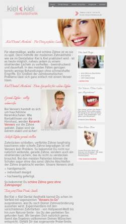 Vorschau der mobilen Webseite www.smiledreams.de, Kiel & Kiel Dental Aesthetik GmbH