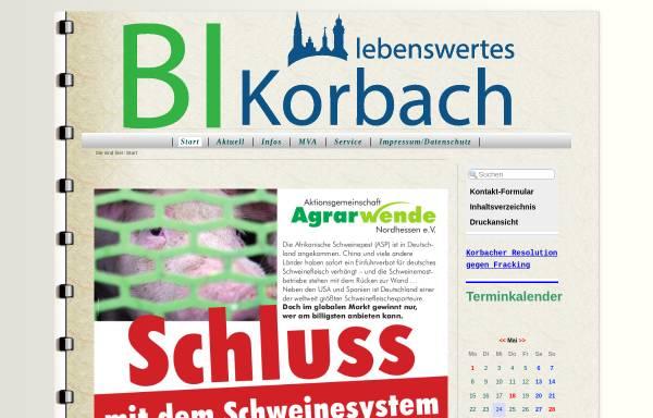 Vorschau von lebenswertes-korbach.org, Bürgerinitiative (BI) lebenswertes Korbach e.V.