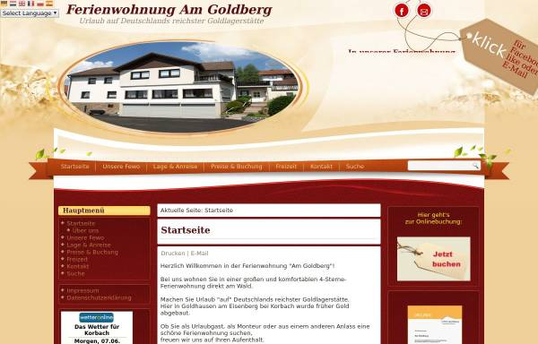Vorschau von www.fewo-am-goldberg.de, FeWo Am Goldberg