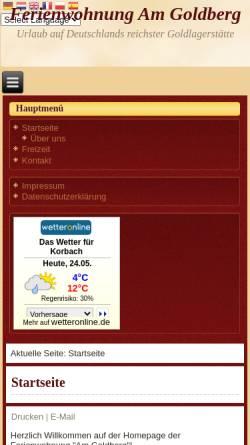 Vorschau der mobilen Webseite www.fewo-am-goldberg.de, FeWo Am Goldberg