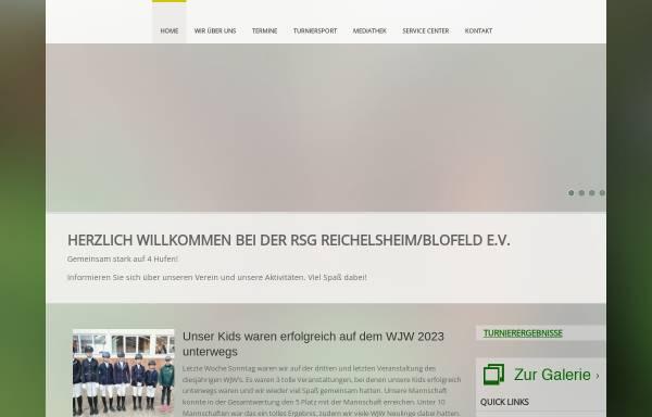 Vorschau von www.rsg-blofeld.de, Reitsportgemeinschaft Reichelsheim/Blofeld e.V.