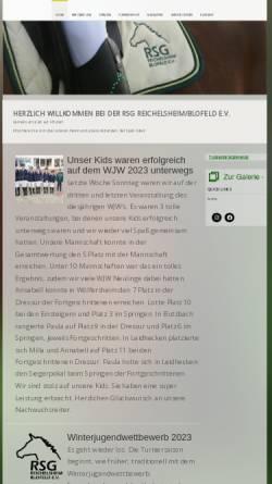 Vorschau der mobilen Webseite www.rsg-blofeld.de, Reitsportgemeinschaft Reichelsheim/Blofeld e.V.