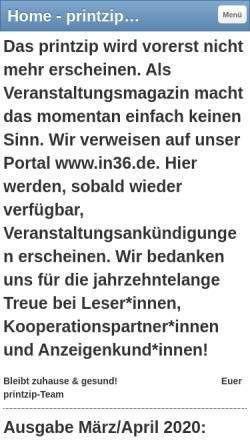 Vorschau der mobilen Webseite www.printzip.de, Printzip