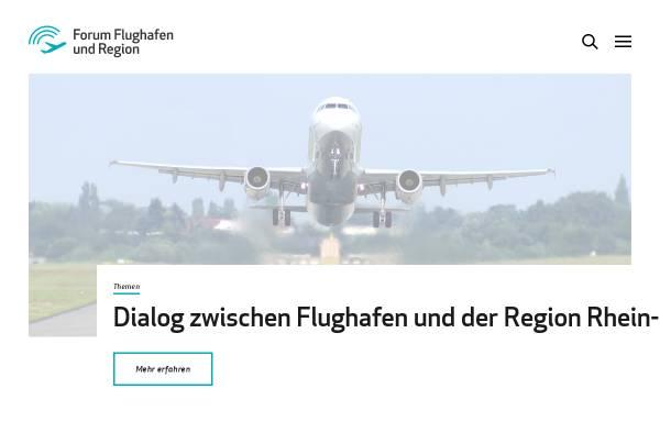 Vorschau von www.forum-flughafen-region.de, Forum Flughafen und Region