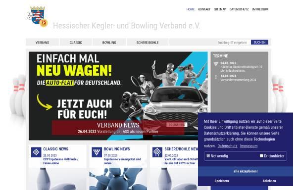 Vorschau von www.hkbv-ev.de, Hessischer Kegler- und Bowling-Verband e.V. (HKBV)