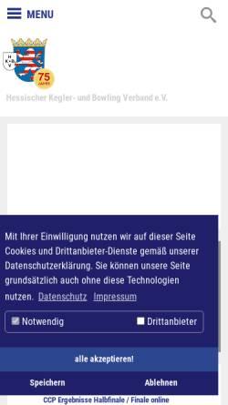 Vorschau der mobilen Webseite www.hkbv-ev.de, Hessischer Kegler- und Bowling-Verband e.V. (HKBV)