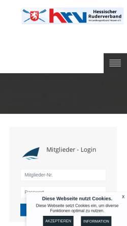 Vorschau der mobilen Webseite www.hessischerruderverband.de, Hessischer Ruderverband e.V.