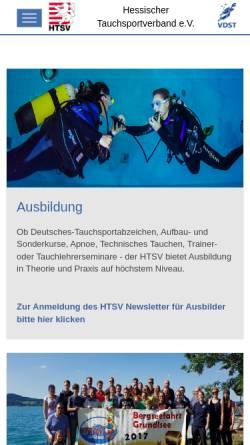 Vorschau der mobilen Webseite htsv.org, Hessischer Tauchsportverband e.V. (HTSV)