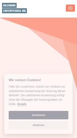 Vorschau der mobilen Webseite www.christoph-degen.de, Degen, Christoph (MdL)