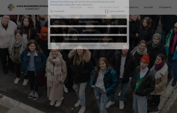 Vorschau von www.alice-eleonoren-schule.de, Alice-Eleonoren-Schule