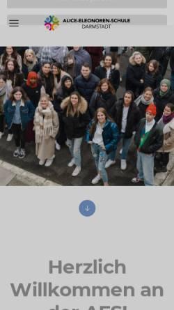 Vorschau der mobilen Webseite www.alice-eleonoren-schule.de, Alice-Eleonoren-Schule