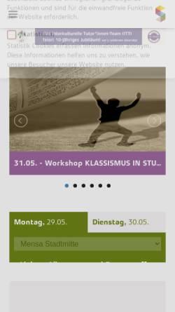 Vorschau der mobilen Webseite www.studierendenwerkdarmstadt.de, Studierendenwerk Darmstadt