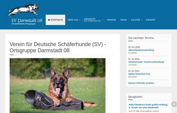 Vorschau von www.svogdarmstadt08.de, Schäferhundverein (SV) Ortsgruppe (OG) Darmstadt 08