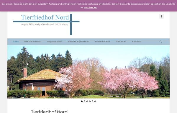 Vorschau von www.tierfriedhof-nord.de, Tierfriedhof Nord
