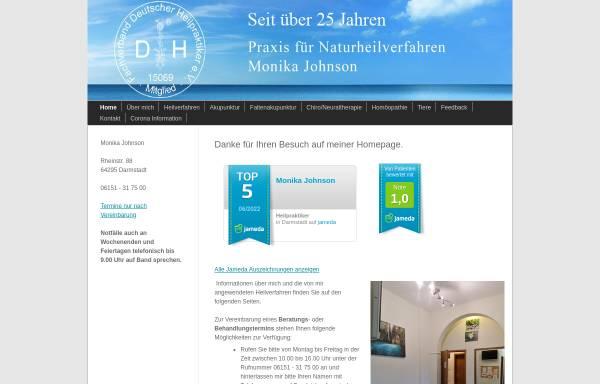 Vorschau von www.praxisjohnson.de, Praxis für Naturheilverfahren Monika Johnson