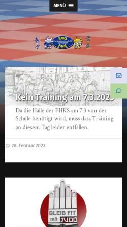 Vorschau der mobilen Webseite www.kiai-darmstadt.de, Judo KG Kiai Darmstadt