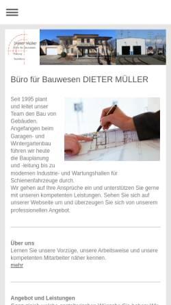 Vorschau der mobilen Webseite odenwald-bau.de, Dieter Müller - Büro für Bauwesen