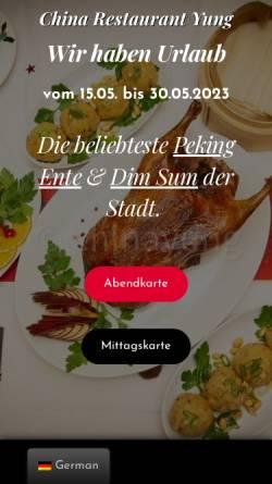 Vorschau der mobilen Webseite chinayung.de, China Restaurant Yung