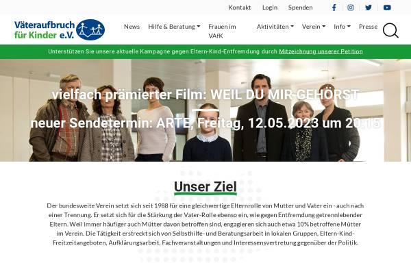 Vorschau von www.vaeteraufbruch.de, Väteraufbruch für Kinder