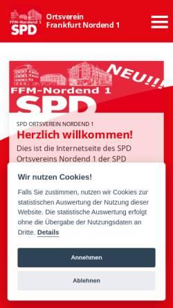 Vorschau der mobilen Webseite www.nordendspd.de, SPD-Ortsvereine Nordend