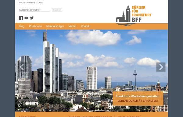 Vorschau von www.bff-frankfurt.de, Bürger Für Frankfurt BFF