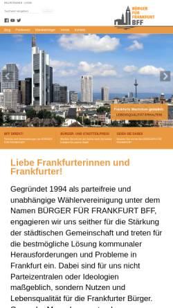 Vorschau der mobilen Webseite www.bff-frankfurt.de, Bürger Für Frankfurt BFF